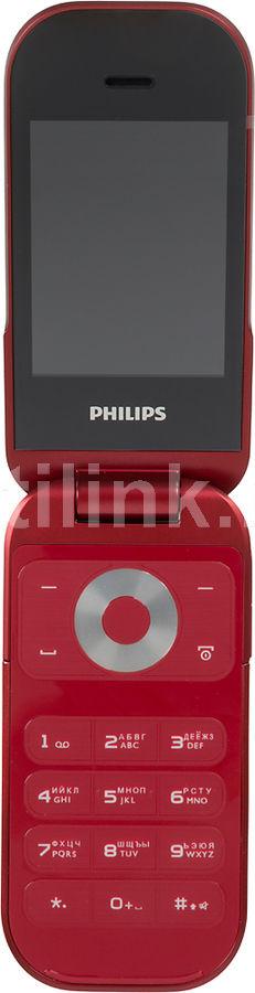 Мобильный телефон PHILIPS E320  +SHE9007WT/0, красный