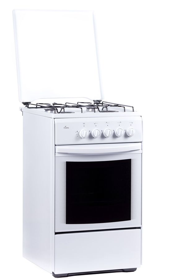 Газовая плита FLAMA RG 24022 W,  газовая духовка,  белый