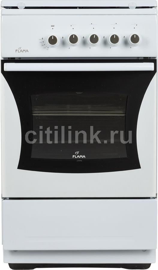 Газовая плита FLAMA FG 2402 W,  газовая духовка,  белый