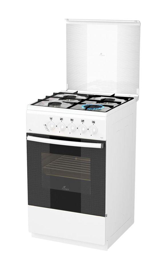 Газовая плита FLAMA FG 2406 W,  газовая духовка,  белый