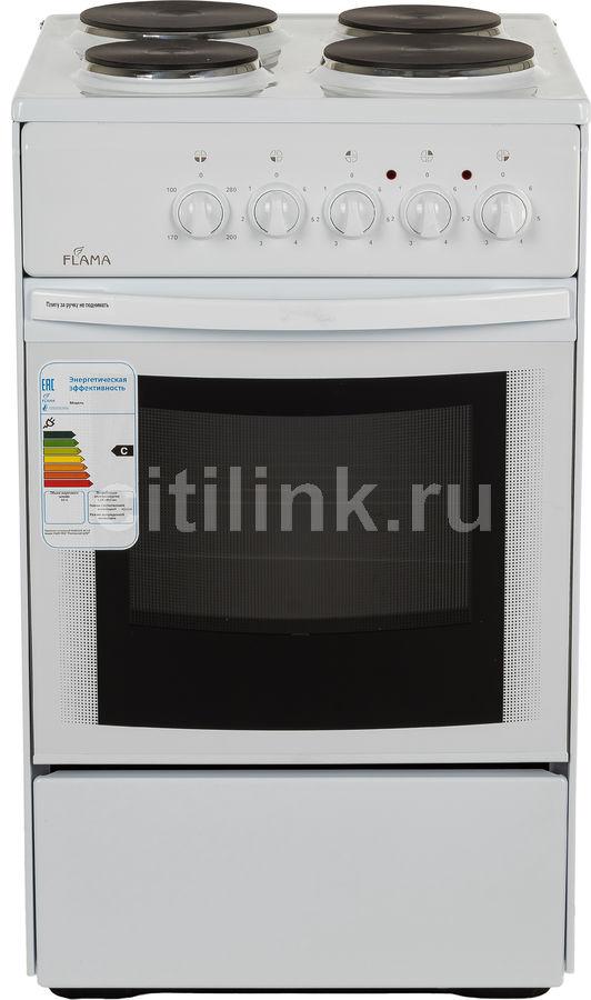 Электрическая плита FLAMA AE 1402 W,  эмаль,  белый