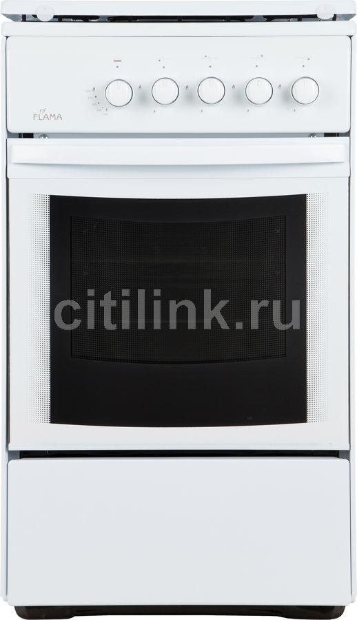 Газовая плита FLAMA RG 2401 W,  газовая духовка,  белый [rg 2401 w/в]
