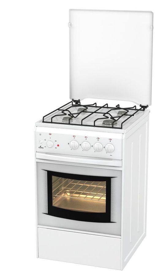 Газовая плита FLAMA AK 1411 W,  электрическая духовка,  белый