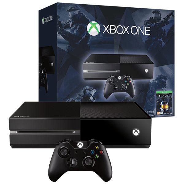 Игровая консоль MICROSOFT Xbox One с 500 ГБ памяти, игрой Halo Master Chief Collection,  5C6-00074, черный