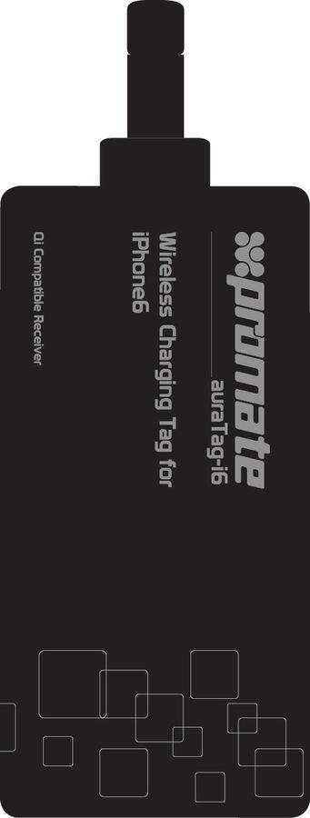 Приемник для беспроводной зарядки PROMATE auraTag-i6,  8-pin Lightning (Apple),  черный