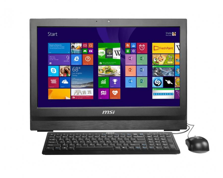 Моноблок MSI AP200-236RU, Intel Pentium G3250, 4Гб, 500Гб, Intel HD Graphics, DVD-RW, Free DOS, черный [9s6-aa7511-236]