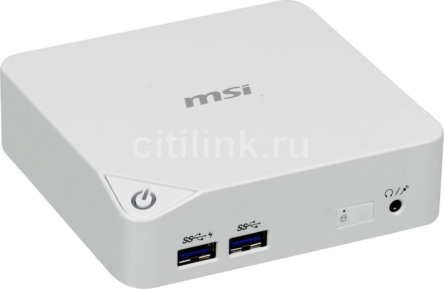 Неттоп  MSI Cubi-020XRU,  Intel  Celeron  3205U,  DDR3L 2Гб, 64Гб(SSD),  Intel HD Graphics,  noOS,  белый [9s6-b09612-020]