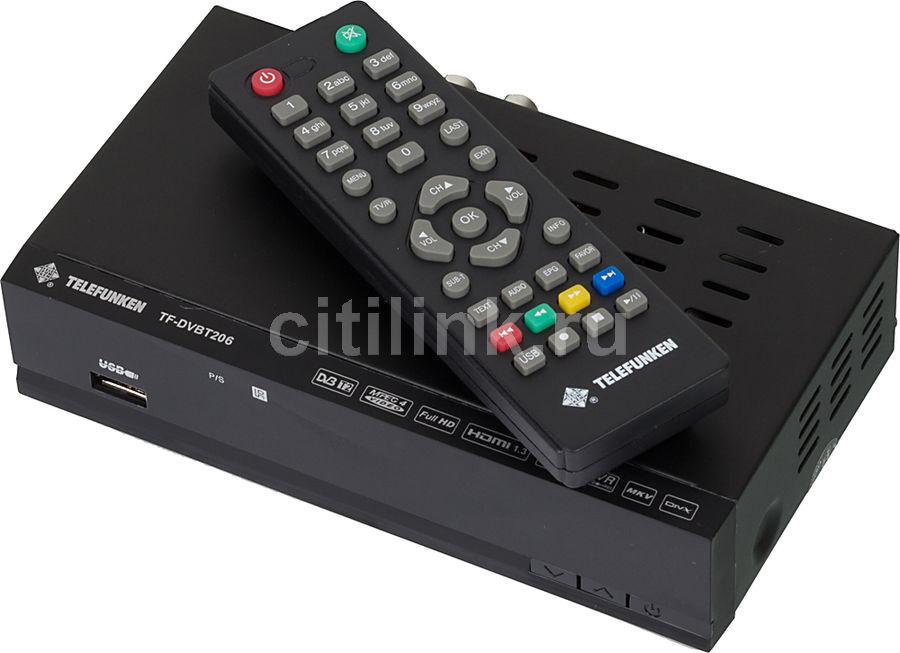 Ресивер DVB-T2 TELEFUNKEN TF-DVBT206,  черный [tf-dvbt206(черный)]