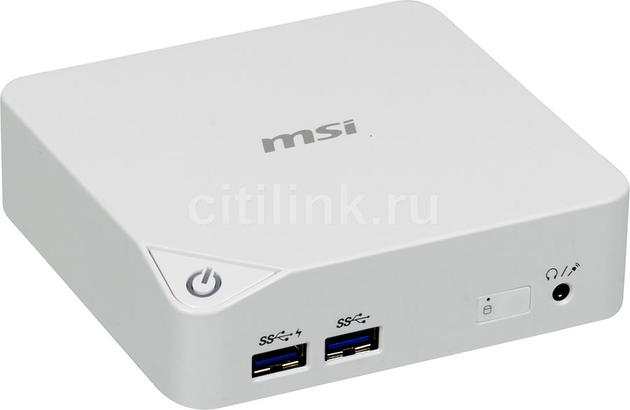 Неттоп  MSI Cubi-022XRU,  Intel  Celeron  3205U,  DDR3L 4Гб, 128Гб(SSD),  Intel HD Graphics,  noOS,  белый [9s6-b09612-022]