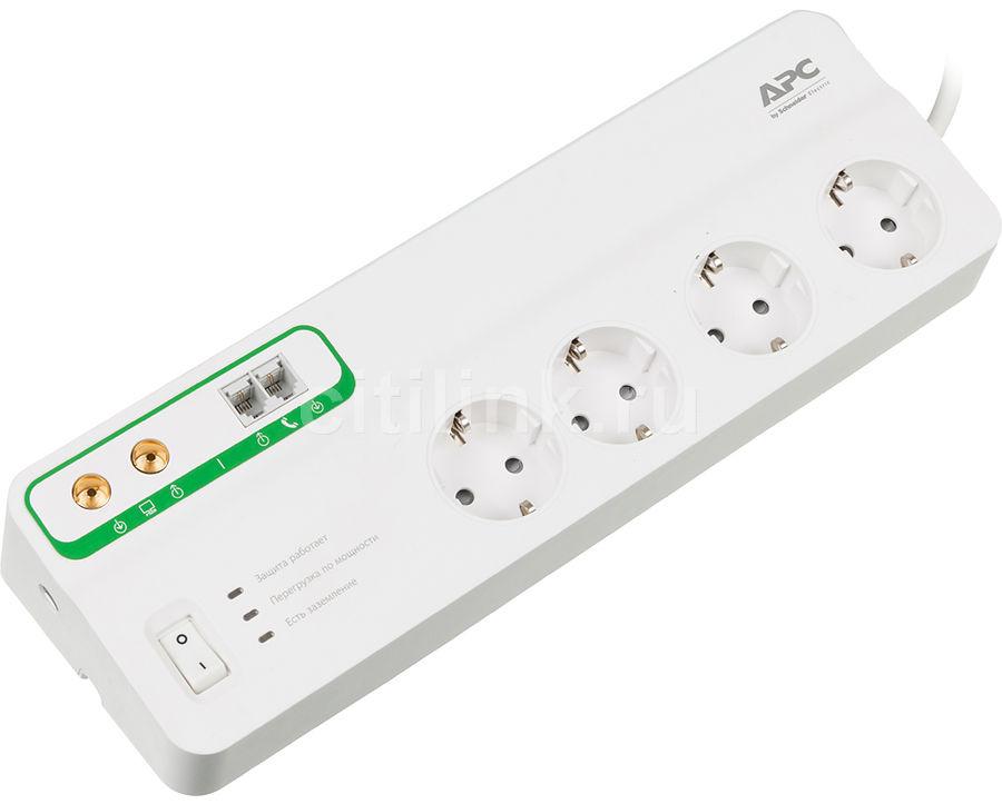 Сетевой фильтр APC PMF83VT-RS, 3м, белый