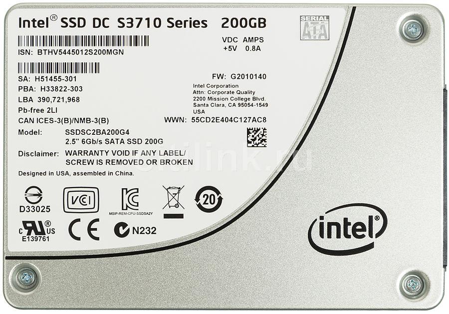 """SSD накопитель INTEL DC S3710 SSDSC2BA200G401 200Гб, 2.5"""", SATA III [ssdsc2ba200g401 937741]"""