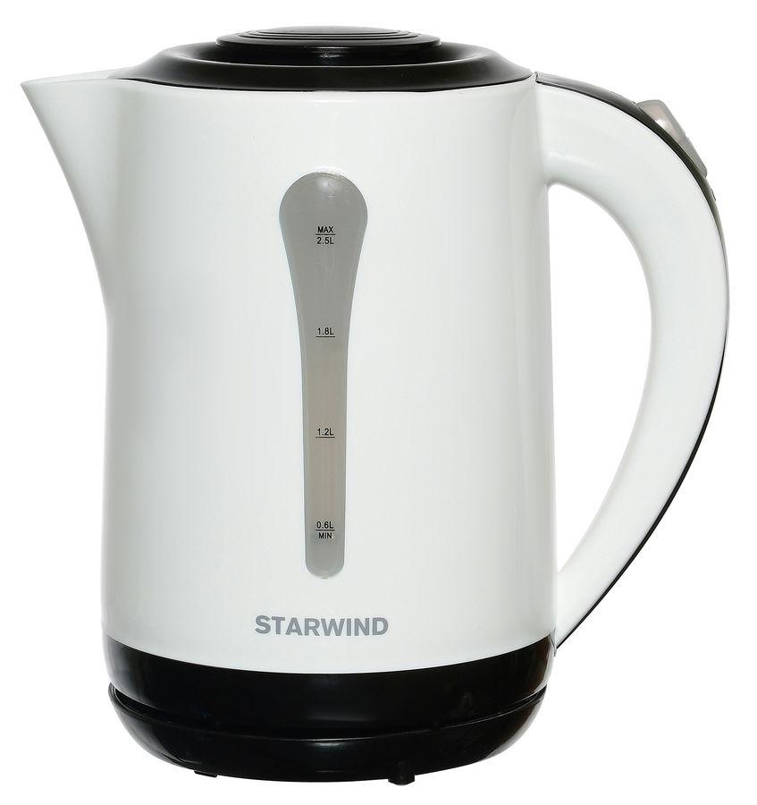 Чайник электрический STARWIND SKP2212, 2200Вт, белый и черный