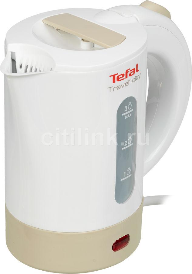 Чайник электрический TEFAL KO120130, 650Вт, белый и бежевый