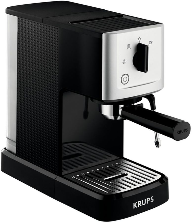 Кофемашина KRUPS XP344010,  черный/серебристый [8000035224]