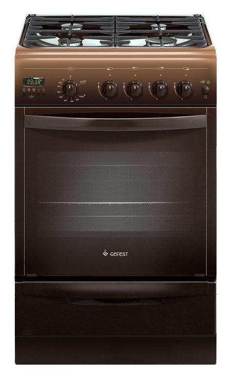 Газовая плита GEFEST ПГ 5100-04 0003,  газовая духовка,  коричневый