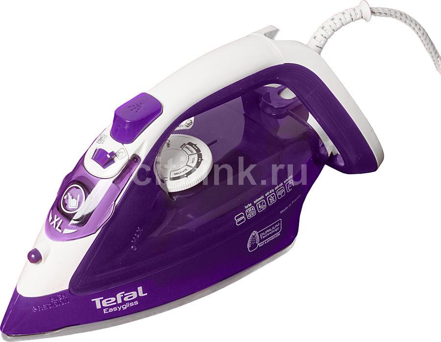 Утюг TEFAL FV3930E0,  2300Вт,  фиолетовый/ белый [1830005283]