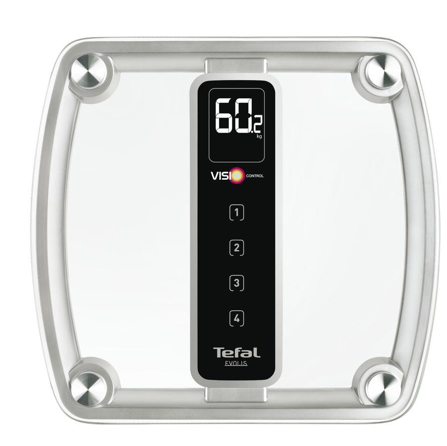 Напольные весы TEFAL PP5150V1, до 160кг, цвет: серебристый [2100086690]