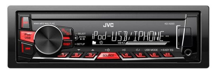 Автомагнитола JVC KD-X220EY,  USB