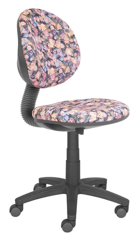 Кресло детское БЮРОКРАТ KD-6, на колесиках, ткань, розовый [kd-6/51-2]