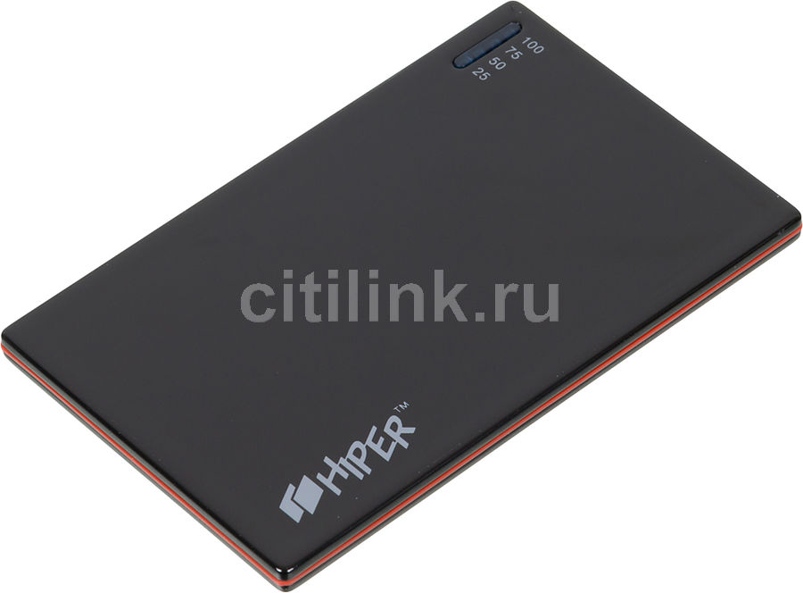 Внешний аккумулятор HIPER PowerBank SLIM2000,  2000мAч,  черный [slim2000 black]