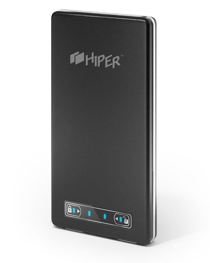 Внешний аккумулятор HIPER PowerBank XP10500,  10500мAч,  черный [xp10500 black]