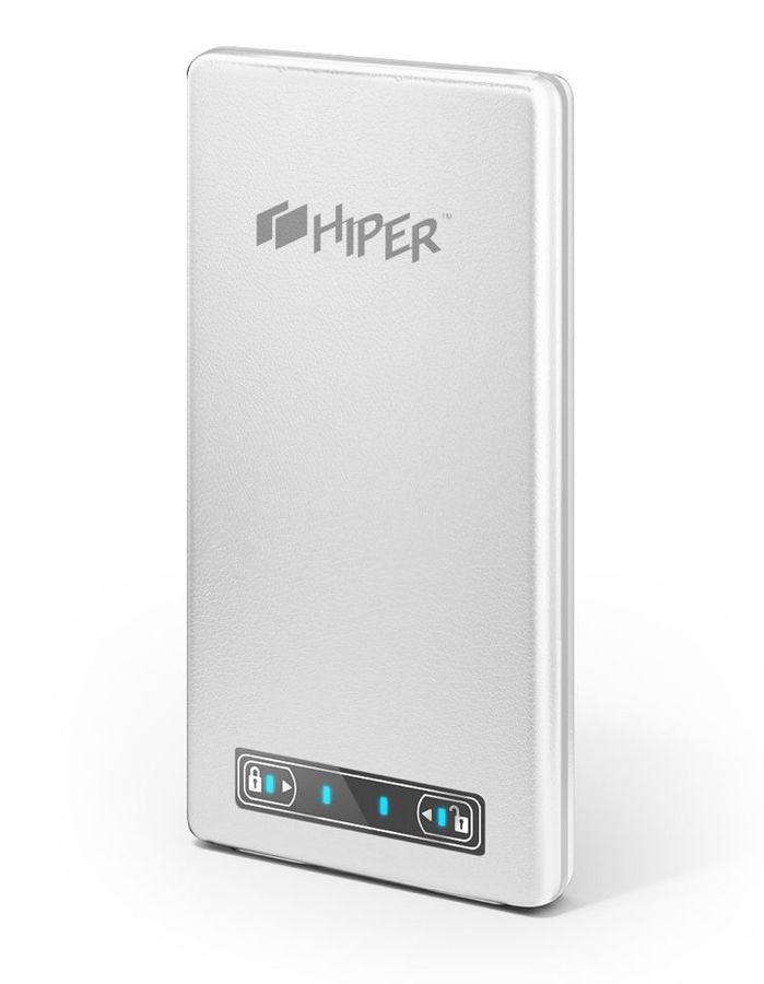 Внешний аккумулятор HIPER PowerBank XP10500,  10500мAч,  белый [xp10500 white]