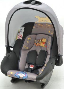 Автокресло детское NANIA Disney Baby Ride (winnie), 0/0+, серый/черный [373311]