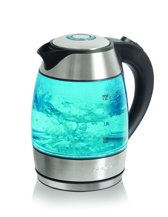 Чайник электрический POLARIS PWK1889CGL, 2200Вт, серебристый и черный