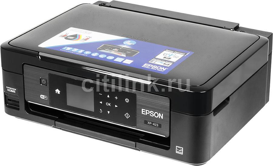 МФУ EPSON Expression Home XP-423, A4, цветной, струйный, черный [c11cd89405]