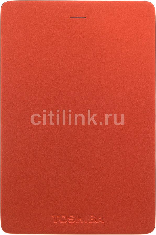 Внешний жесткий диск TOSHIBA Canvio Alu HDTH310ER3AA, 1Тб, красный
