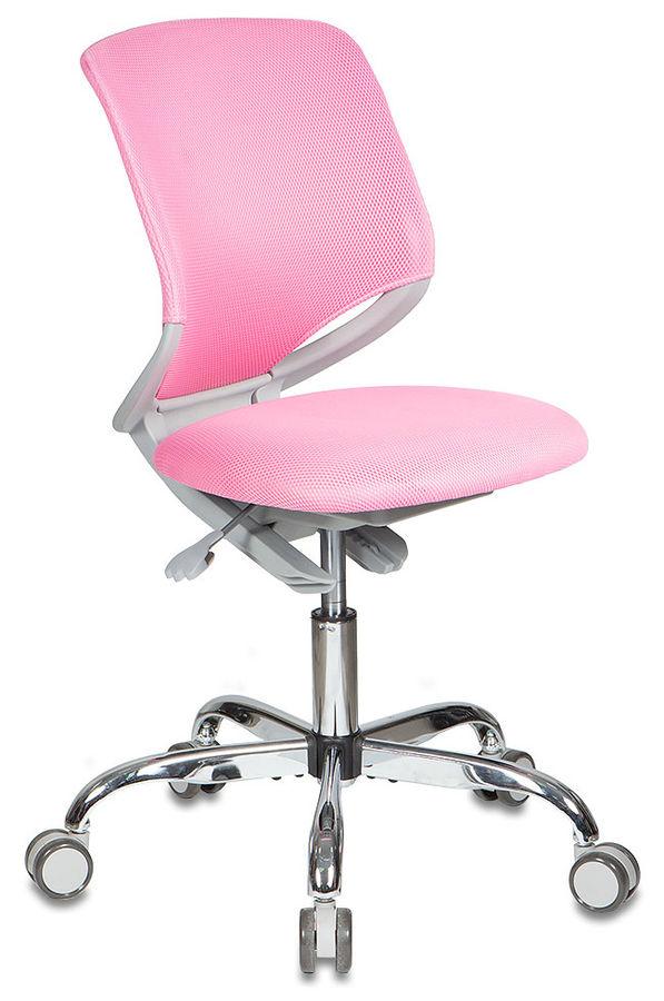 Кресло детское БЮРОКРАТ KD-7, на колесиках, ткань, розовый [kd-7/tw-13a]