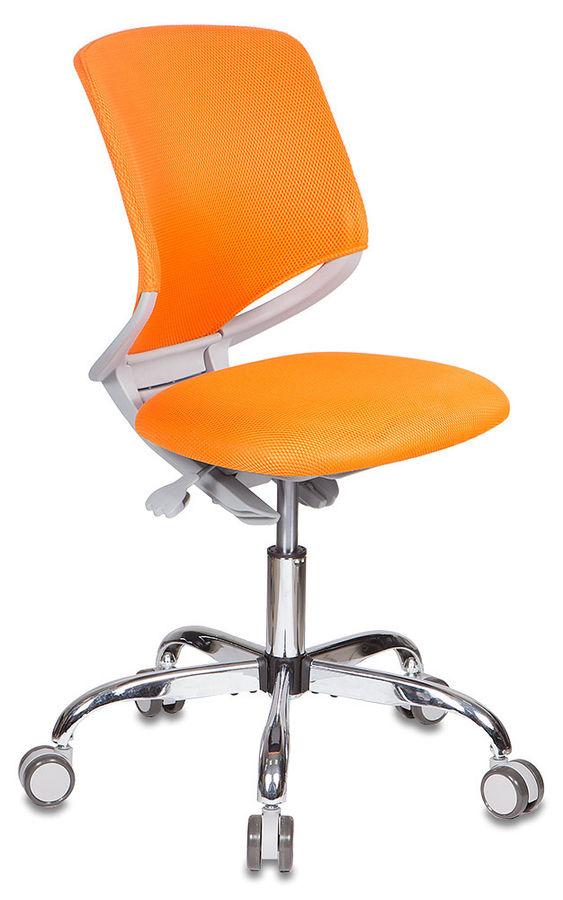 Кресло детское БЮРОКРАТ KD-7, на колесиках, ткань, оранжевый [kd-7/tw-96-1]
