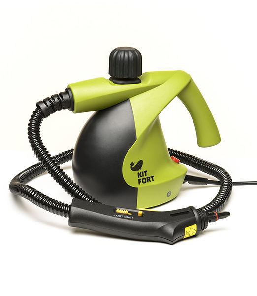 Пароочиститель KITFORT КТ-911,  зеленый/серый
