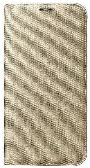 Чехол (флип-кейс) SAMSUNG Flip Wallet (Textil), для Samsung Galaxy S6, золотистый [ef-wg920bfegru]