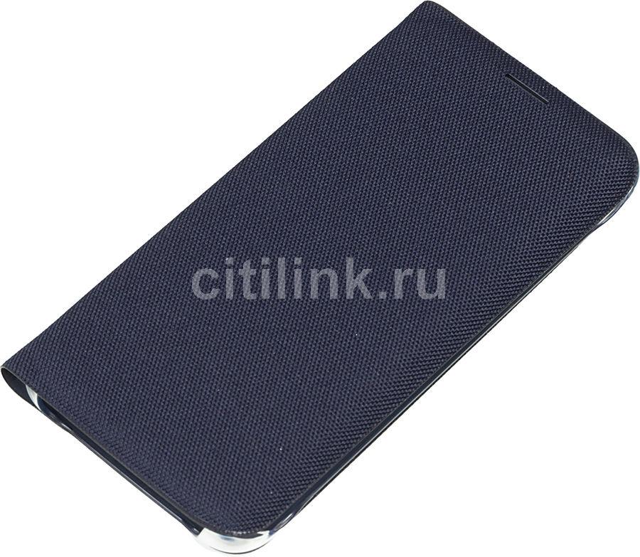 Чехол (флип-кейс) SAMSUNG Flip Wallet (Textil), для Samsung Galaxy S6 Edge, черный [ef-wg925bbegru]