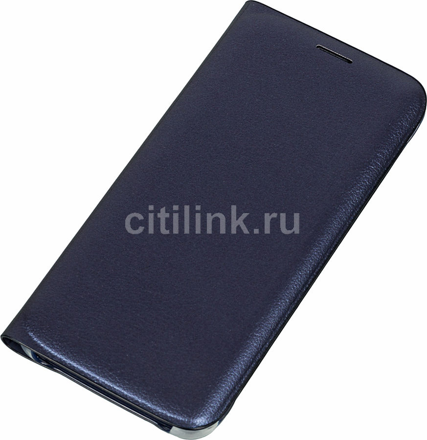 Чехол (флип-кейс) SAMSUNG Flip Wallet, для Samsung Galaxy S6 Edge, черный [ef-wg925pbegru]