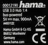 Хаб (разветвитель) HAMA Square 12190, черный [00012190] вид 6