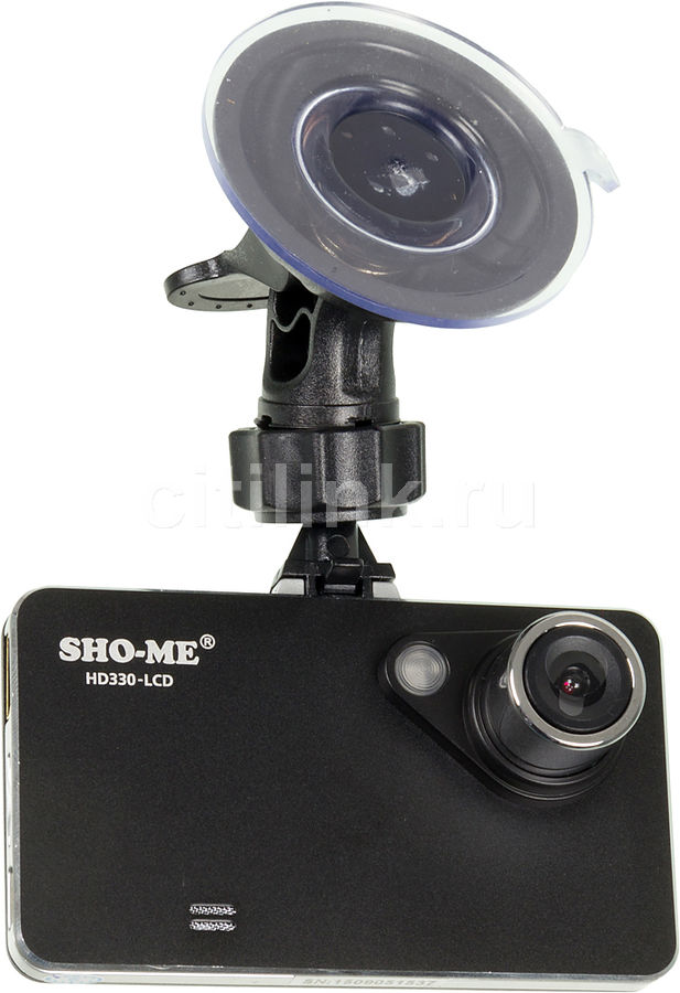 Видеорегистратор SHO-ME HD330-LCD,  черный