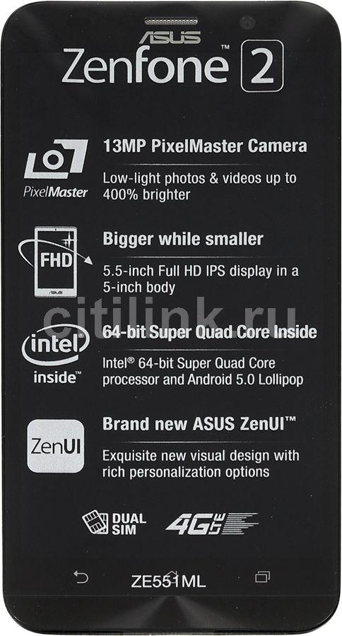 Смартфон ASUS Zenfone 2 ZE551ML  16Gb, черный