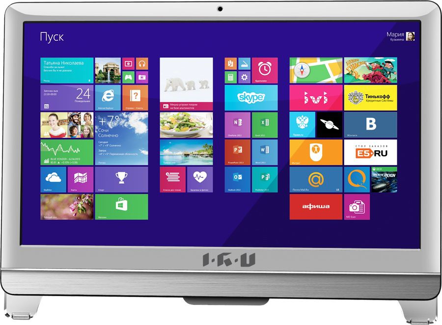Моноблок IRU Office T2108, Intel Core i3 3240, 4Гб, 500Гб, Intel HD Graphics, DVD-RW, Windows 8.1, белый [289359]