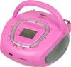 Аудиомагнитола BBK BS05,  розовый и серебристый вид 1