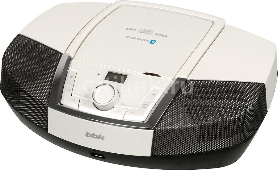 Аудиомагнитола BBK BX519BT,  белый и черный