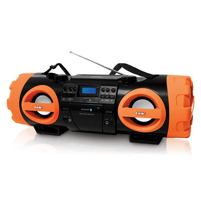 Аудиомагнитола BBK BX999BT,  черный и оранжевый