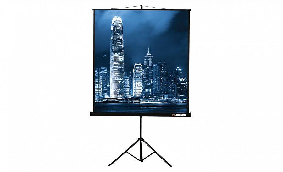 Экран LUMIEN Master View LMV-100102,  153х153 см, 1:1,  настенно-потолочный черный [дубль использовать 585807]