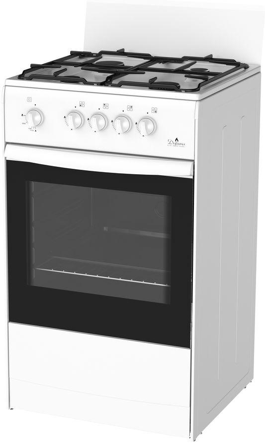 Газовая плита DARINA S GM 441 001 W,  газовая духовка,  белый [863]