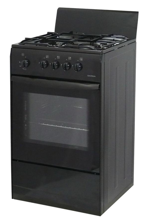 Газовая плита DARINA S GM441 001 B,  газовая духовка,  черный
