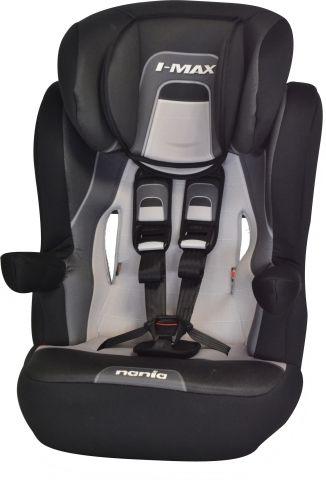 Автокресло детское NANIA I-Max SP PL (melbourne black), 1/2/3, черный/серый [903066]