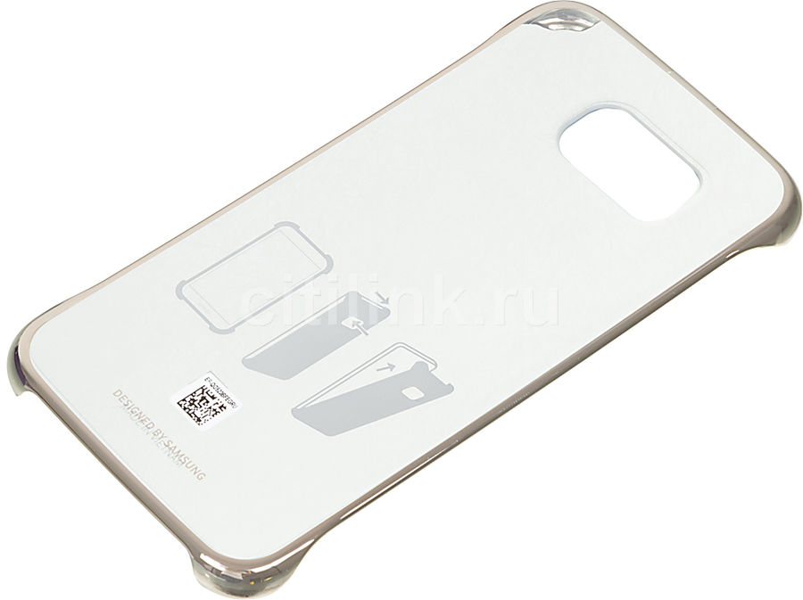 Чехол (клип-кейс) SAMSUNG Clear Cover, для Samsung Galaxy S6, золотистый [ef-qg920bfegru]