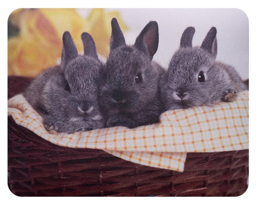 Коврик для мыши BURO BU-M40092,  рисунок/кролики