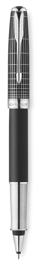 Ручка роллер Parker Sonnet T536 (1930258) Contort Black Cisele F черные чернила подар.кор.